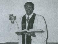 Pastor Pickett in Robes - B&W